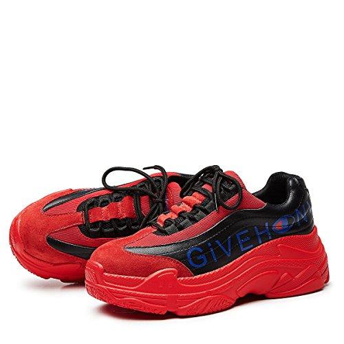 tamaño Mujeres Moda Rojo la Zapatos Zapatos Plataforma Zapatos 2018 de Cuero Rojo Casuales Zapatos de Las 35 Ocasionales Color Casuales de tOqwqUC