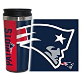 Boelter Brands New England Patriots Travel Mug 14oz Full Wrap Style Hype Design