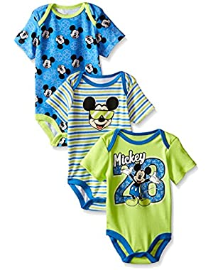 Disney Baby Boys' Mickey Mouse 3 Pack Bodysuits