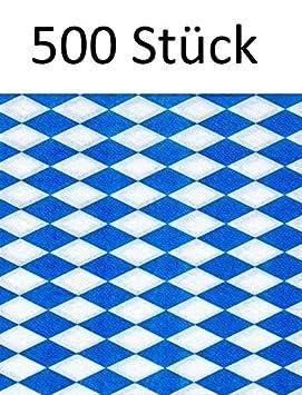 500 X PAPSTAR servilletas/pañuelos Servilletas Bayrisch Azul de 1 capa, pliegue 1/4, 33 x 33 cm, para hostelería o fija, para Bávara Especialidades: ...