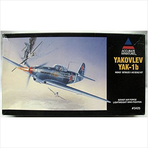 - 1/48 Yakovlev YAK-1B Russian Airforce Fighter ACCURATEMINIATURES-3425 784776034253