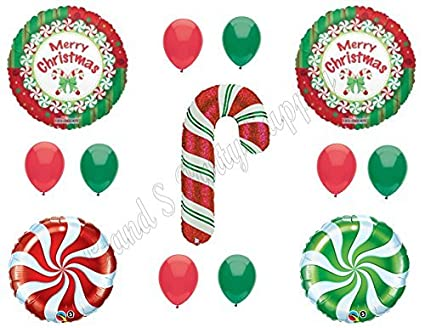 Amazoncom Candy Cane Christmas Balloons Birthday Party Decoration