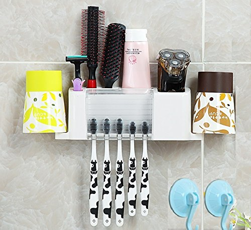 Home organizer Tech Toothbrush Organizer Dispenser