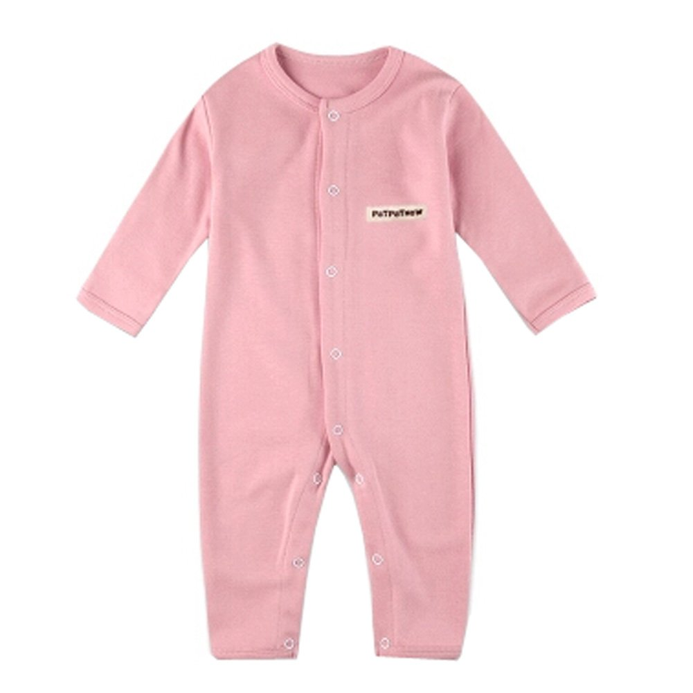 Weicher Baumwolle Infant Coverall Langarm Baby Body Baby-Kleidung, Rosa KE-CLO1046184-JELLY04621