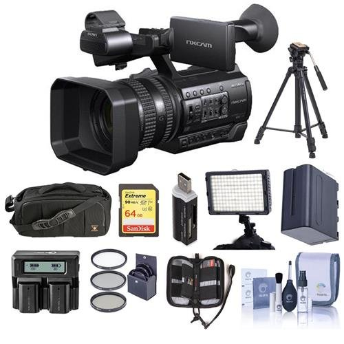 Sony HXR-NX100 Professional Compact Camcorder - Bundle with