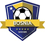 Bosnia And Herzegovina Flag National Soccer Team Badge Home Decal Vinyl Sticker 13'' X 12''