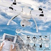 Leewa@ AOSENMA CG035 Double GPS 5.8G FPV RC RTF Drone with 1080P HD Gimbal Camera -White