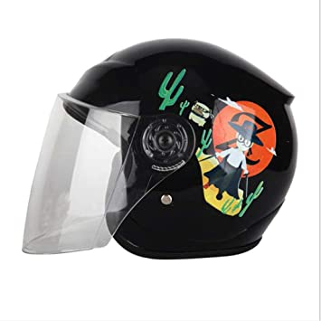 LXLX Motocicleta de coche eléctrico otoño e invierno casco de niño casco caliente niños y niñas