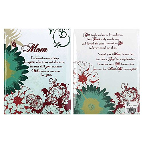Mom He Gave Me You Red Flowers 6.5 x 5 Hardboard Photo Album ()