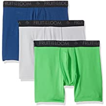 Fruit of the Loom Men's 3-Pack Breathable Lightweight Micromesh Boxer Brief