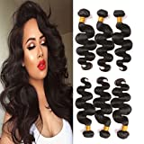 Brazilian Hair 3 Bundles Body Wave 18 20 22 Inches Mixed Length Mink Virgin Hair Weave 100 Unprocessed Human Hair Extensions Natural Black 300g a Pack For Sale