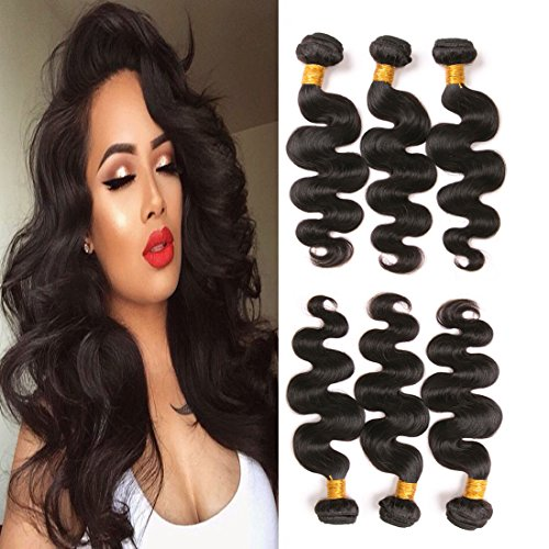 Brazilian Hair 3 Bundles Body Wave 18 20 22 Inches Mixed Length Mink Virgin Hair Weave 100 Unprocessed Human Hair Extensions Natural Black 300g a (Wholesale 10 Piece Natural)