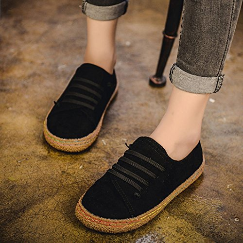 Femminile Stivali di Donne Black Pelle Boots Lace Caviglia Piatto SOMESUN Up Women in Singolo Lace camoscio Morbido delle Up Scarpe Signore 4pOOZPxwSq