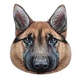JW 3D Animal Pillows Lifelike Cushions Super Soft Plush Home Bed Car Chair Decoration for Kids German Shepherd Dog