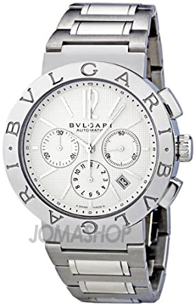 c3af7c22952 Image Unavailable. Image not available for. Color  Bvlgari Bvlgari White  Dial Chronograph Automatic ...