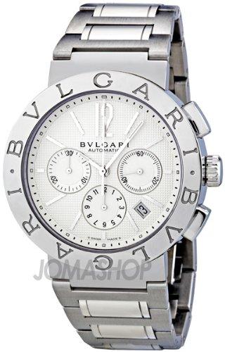 (Bvlgari Bvlgari White Dial Chronograph Automatic Mens Watch BB42WSSDCH)