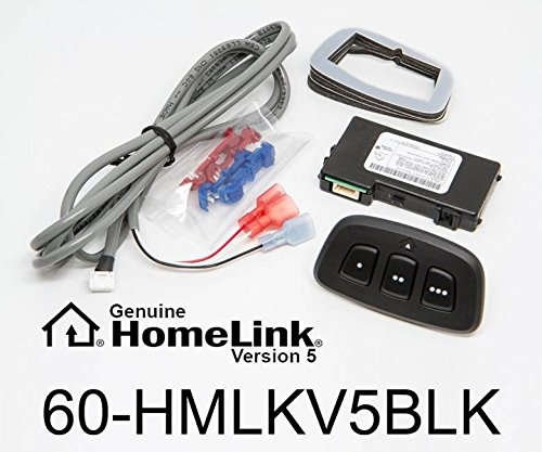 HomeLink 60-HMLKV5BLK Wireless Garage Door Opener Control System for Car Headliner or Sun Visor: Black