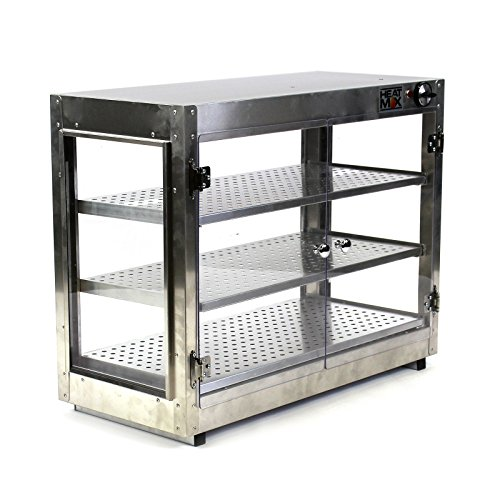 Commercial Countertop Food Warmer Cabinet Pizza Pastry 30x15x24 Wide Display by HeatMax