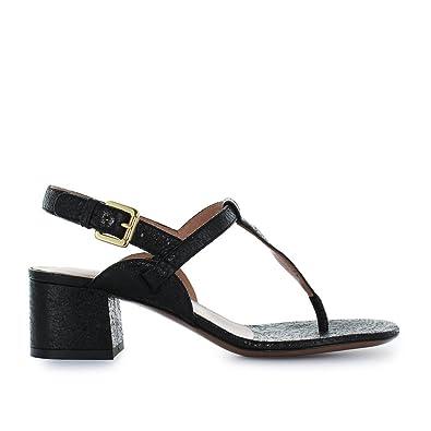 L Autre Chose Chaussures Femme Sandale Tong Craquelé Noir Printemps-Été 2018 3751d13a27d4