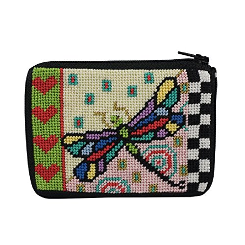 Coin Purse - Dragonfly - Needlepoint -