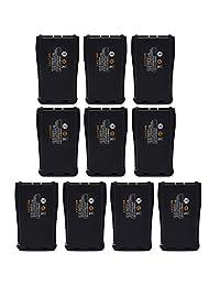 abcGOODefg 2800 mAh Li-ion Batería de reemplazo recargable paquete de batería para BAOFENG Radio de dos vías 888S 777S 666S Retevis H777 Walkie Talkies, 10 piezas