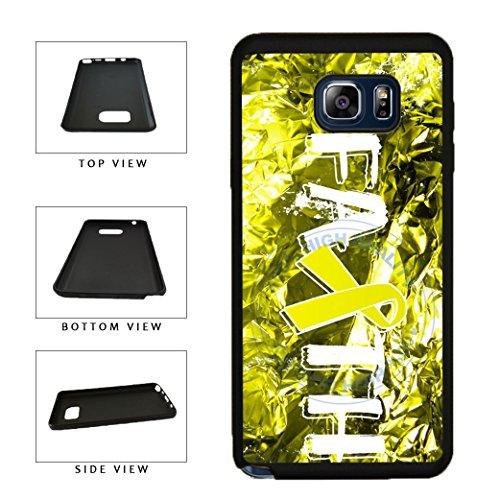 BleuReign(TM) Sarcoma Cancer Awareness Faith Ribbon TPU Rubber Silicone Phone Case Back Cover for Samsung Galaxy Note 8