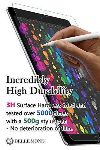 "BELLEMOND Paper-Like/Japanese Kent Paper Screen Protector for iPad Pro 12.9""- Write, Draw & Sketch with The Apple Pencil as if Using on Kent Paper - for Apple iPad Pro 12.9 Inch"