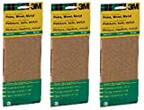 3M 9019 General Purpose Sandpaper Sheets, 3-2/3-Inch by 9-Inch, Assorted Grit (Assorted Grit Pack of 3)