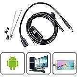 USB Endoscope,SGODDE Soft-wire Borescope Inspection Camera - 2.0 Megapixels HD Waterproof Snake Camera with 6 Adjustable Led Light - 16.4 ft(5 Meter)