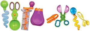 Learning Resources Sand & Water Fine Motor Set, Construction Toy, 4 Pieces, Ages 3+ & Helping Hands Fine Motor Tool Set Toy, Fine Motor and Sensory Toy, Ages 3+ (LER5558),Multi-Color