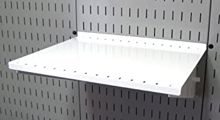product image for Wall Control Pegboard Shelf 12in Deep Pegboard Shelf Assembly for Wall Control Pegboard and Slotted Tool Board – White
