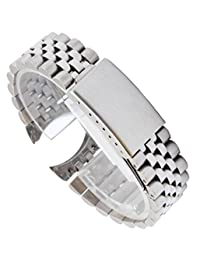 316L Solid Stainless Steel 20mm Replacement strap for Rolex Submariner GMT Oyster Style (Silver)
