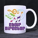 White Ceramic Mug - Fashion Colorful Music Notes \