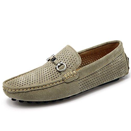 Hommes Bateau pour Chaussures Respirant en Classiques Léger Décontracté Mocassins Creux Mocassins Kaki Daim Yaer wxPFpHXqI