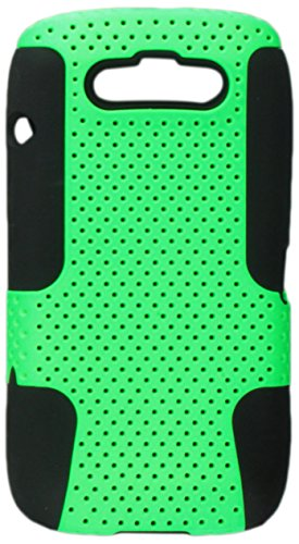 Asmyna KBB9850HPCAST006NP Astronoot Premium Hybrid Case with Durable Hard Plastic Faceplate for BlackBerry Torch 9850 - 1 Pack - Retail Packaging - Green/Black