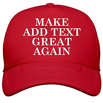 Custom Make Your Text Great Again: Snapback Trucker Hat