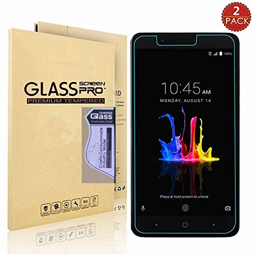 [2-PACK] ZTE Blade Z Max/Zmax pro 2/Sequoia Z982 [Tempered Glass] Screen  Protector,I-VIKKLY Ultra Thin [9H Hardness] [Scratch Resist] [Bubble Free]