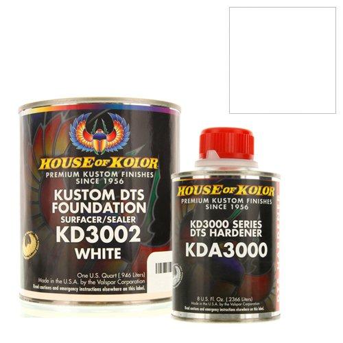 House Kolor Kustom DTS Epoxy Surfacer Sealer Kit, White, Pt# KD3002 (Primer House Of Kolor)