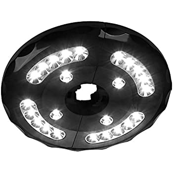 AMIR Rechargeable Patio Umbrella Lights, Cordless 24 LED Umbrella Lights,  Umbrella Pole Light,