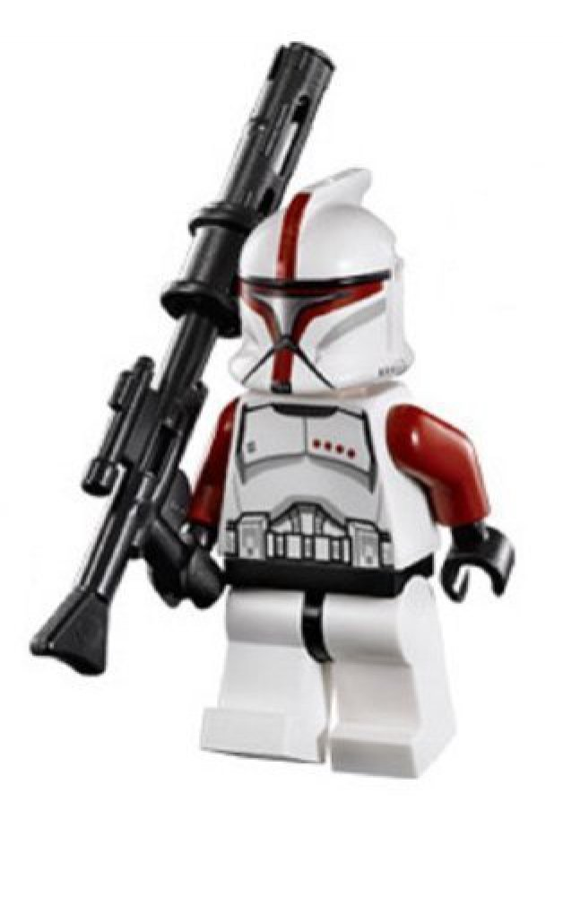 Lego Star Wars Minifigure Red Clone Trooper Captain From Republic