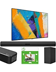 LG OLED77GXPUA 77 inch OLED TV GX Class Smart 4K Ultra HD 2020 Model w/Gallery Design & AI ThinQ Bundle SN5Y Sound Bar w/DTS Virtual:X + Taskrabbit Installation Service + Wall Mount Kit