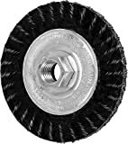 PFERD 83511 Stringer Bead Twist Knot Wheel Wire Brush, Carbon Steel Knot Wire, 4'' Diameter, 5/8-11'' Thread Size.020 Wire Diameter, 20,000 RPM (Pack of 10)