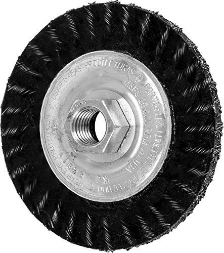 PFERD 83511 Stringer Bead Twist Knot Wheel Wire Brush, Carbon Steel Knot Wire, 4