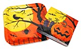 Spooky Halloween Moon Dessert Plates and Napkins for 10