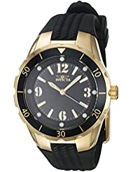 Invicta Angel Black Dial Black Polyurethane Ladies Watch 17486