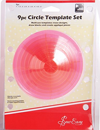 Sew Easy Circular Quilting Template Set - per pack