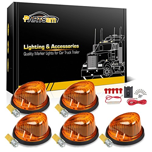 - Partsam 5X Cab Marker 1313A Amber Light + 5X 168 194 T10 10-3528-SMD Amber LED Bulb + Wiring Pack Compatible with Chevrolet/GMC C/K Series 1973-1987 Full Size Pickup Trucks