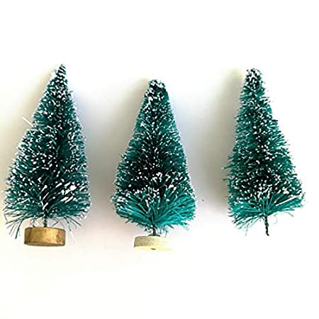 Nowbetter Lot De 12 Mini Sapins De Noel Artificiels En Sisal