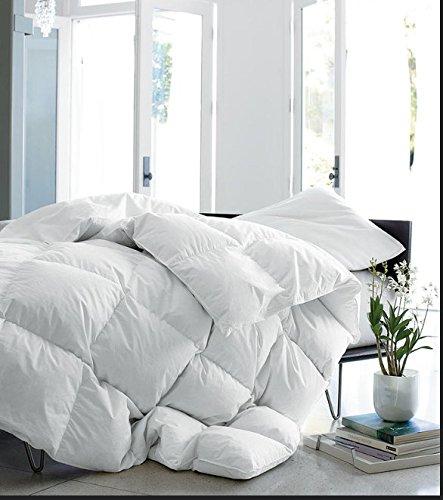 Premium 700 Baffle Box Heavy Weight White Down Comforter Level 4 White / Twin