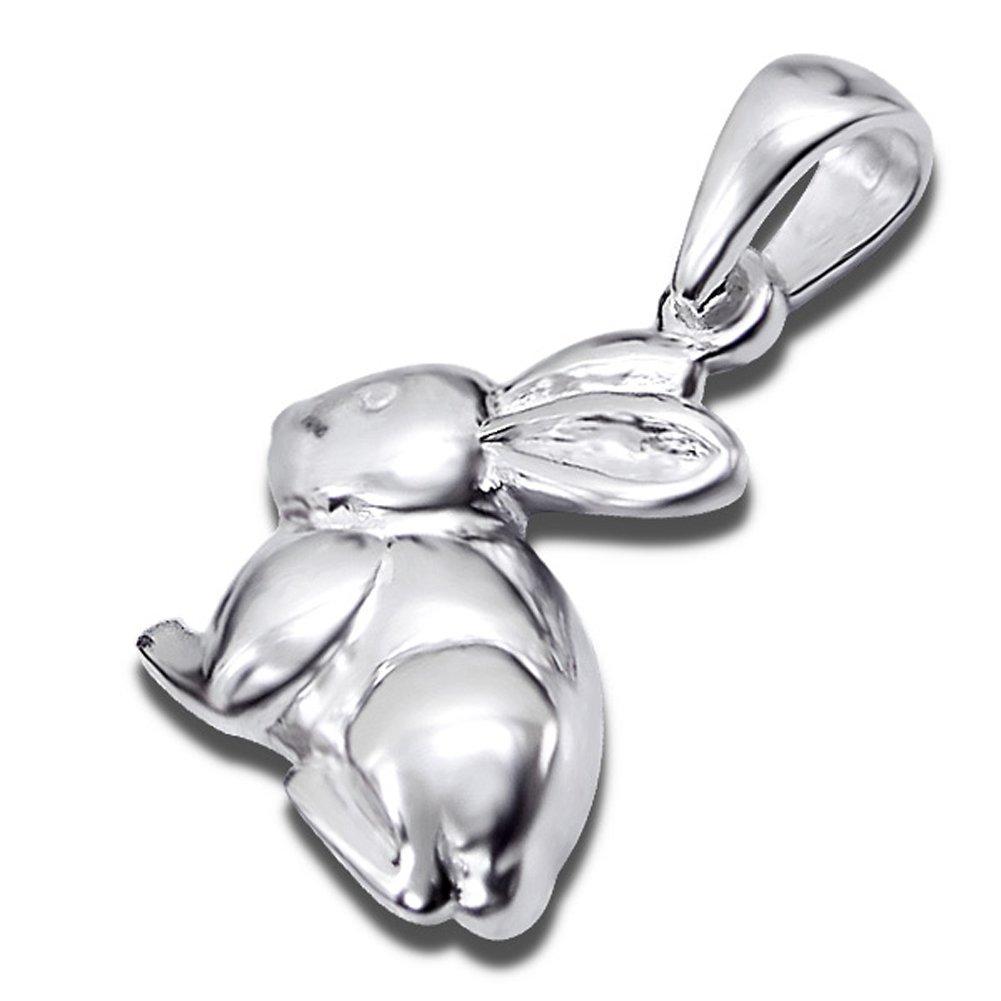 Children Jewelry Rabbit Pendant Sterling Silver 925 (E2945)